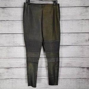 NEW Topshop Vegan Leather distressed moto pants 10